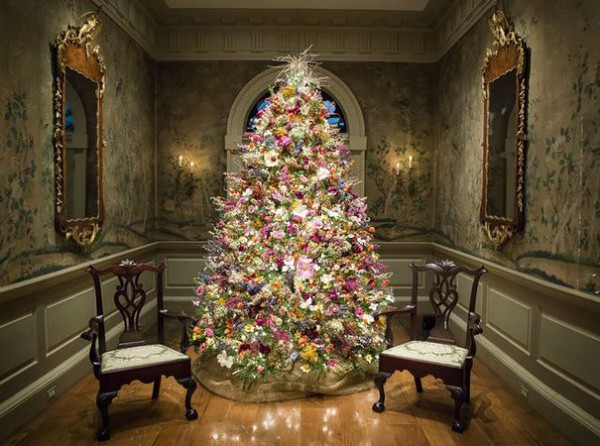 floral christmas tree 8