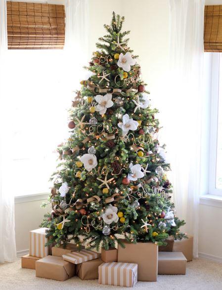 floral christmas tree 9.2