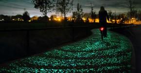 roosegaarde twinkling bike path 1