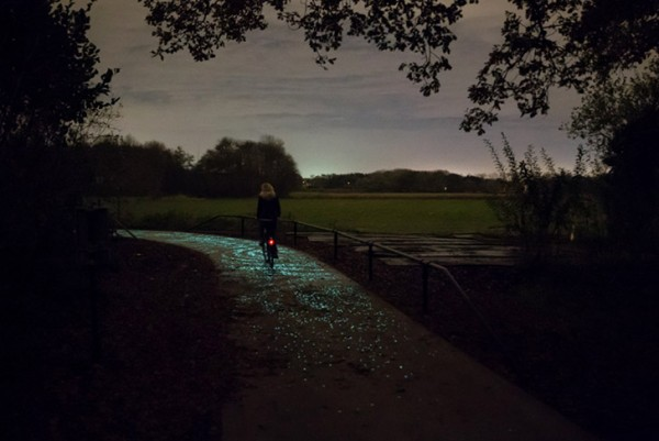 roosegaarde twinkling bike path 5