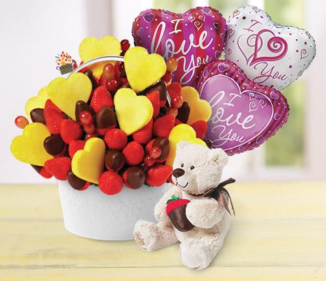 valentine's day fruit bouquet
