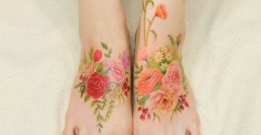 watercolour painting tattoos 10