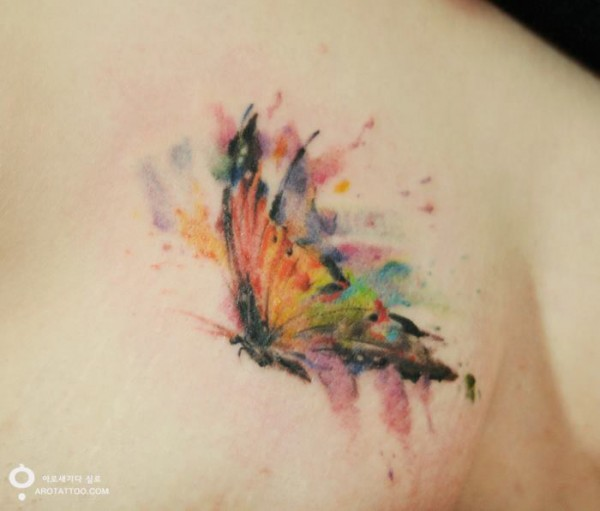 watercolour painting tattoos 2