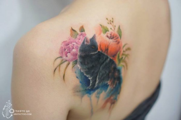 watercolour painting tattoos 5