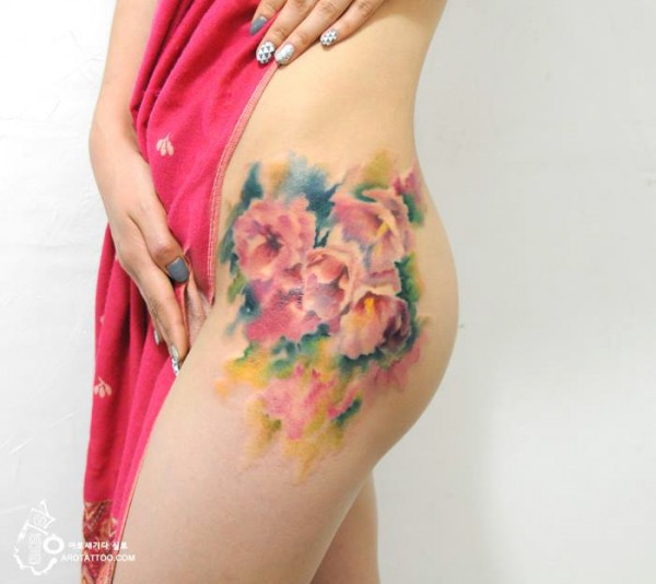 watercolour painting tattoos 6