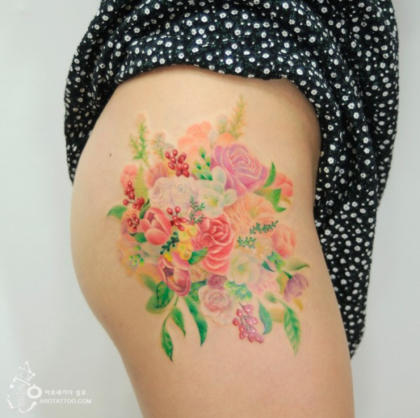 watercolour painting tattoos 8