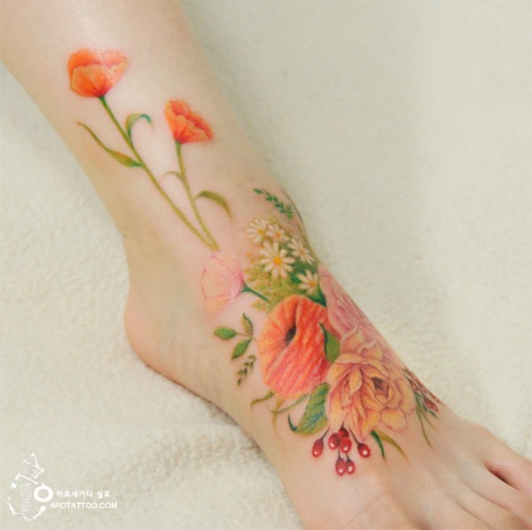 watercolour painting tattoos 9