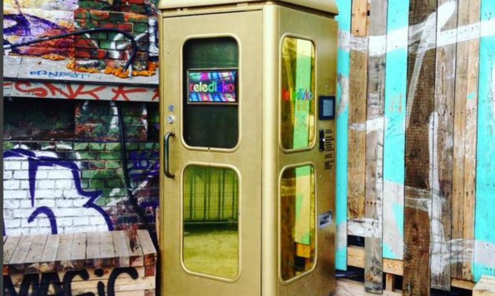 Mini Berlin telephone booths in berlin transformed into coin operated mini