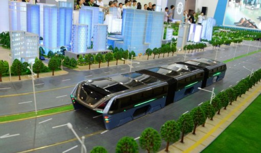 china elevated bus 1