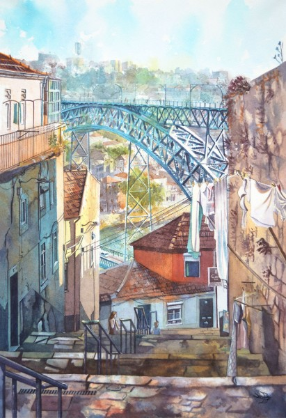 portugal watercolor 2