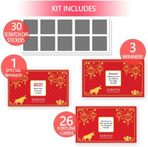 2021 Year of the Ox Party Scratch Off Fortune Cards
