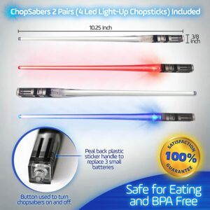 Chop Sabers - Lightsaber like chop sticks