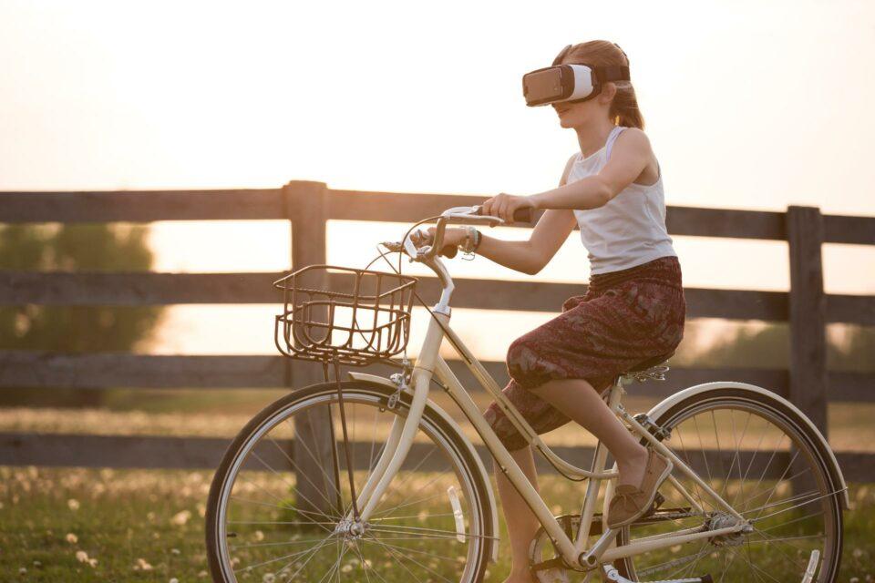 VR Girl on a bike