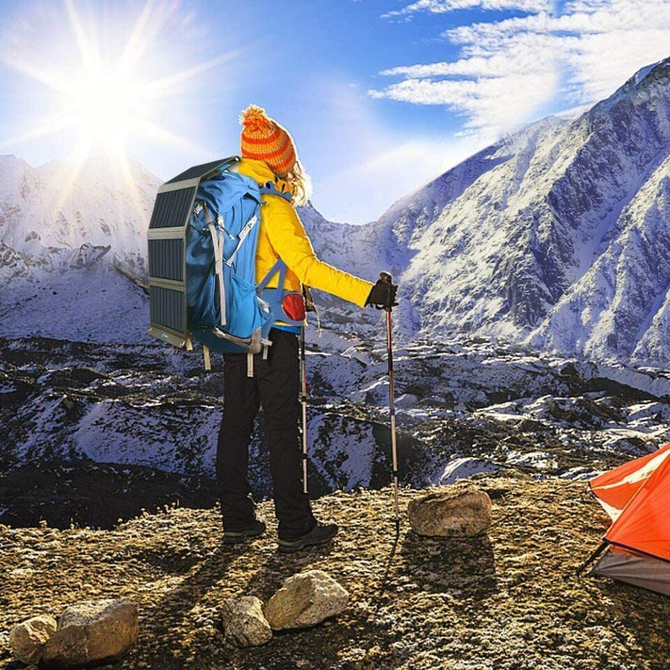 Big Blue Solar Charger Hiker