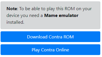 MAME - Download ROM - Contra