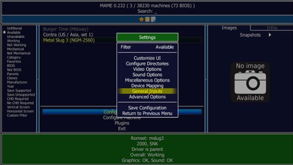 MAME UI 2 - inputs