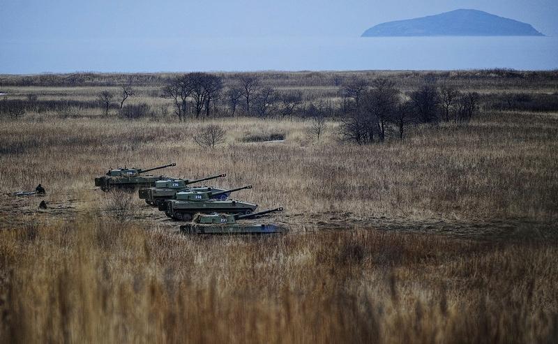 0a599d90a726e18a531ec2d695da72bc In Pictures The Russian Howitzer Practice Shoot