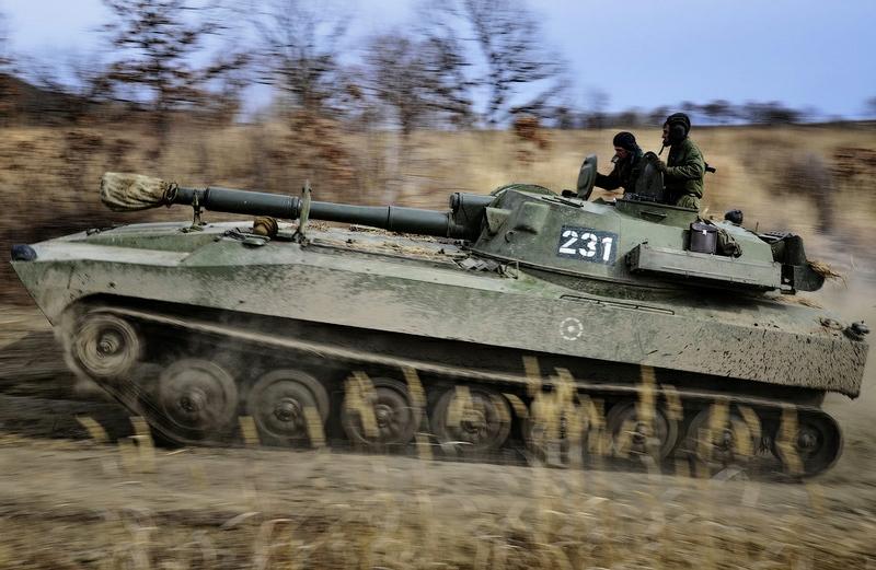 1a61004f15760b4cb5b7c8ea6f02bd2b In Pictures The Russian Howitzer Practice Shoot