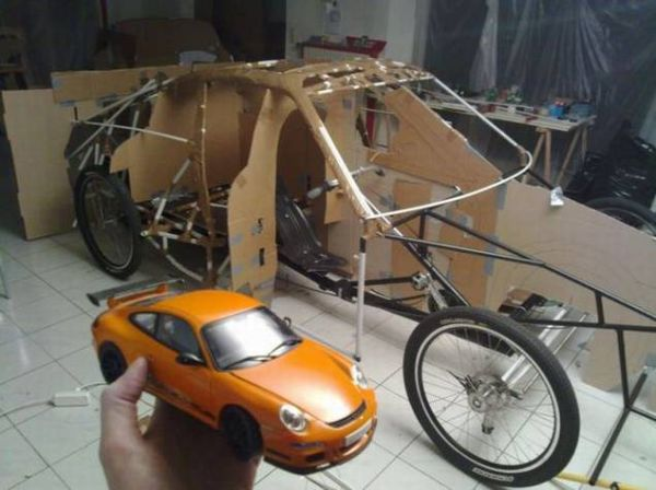 45b1f6640fa97f027d3a3a5f9d600df2 Guy Makes Porsche Car Out of Bicycle