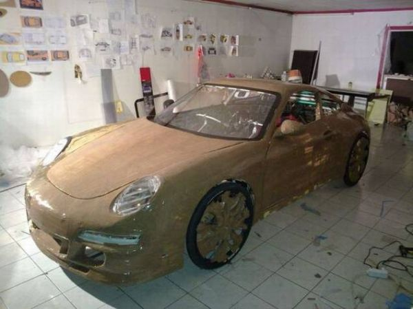 596710b5b00904dfb330230d032da561 Guy Makes Porsche Car Out of Bicycle