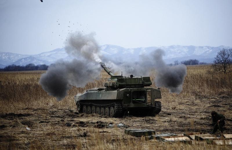 6226d8e0d8e0c67b9f10109bf75feb0a In Pictures The Russian Howitzer Practice Shoot