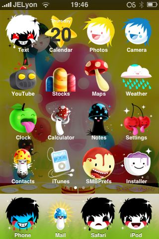 632cd46194679acc45267af0267096d0 Complete List of Winterboard Themes with Images for iPhone