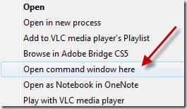 open command windows