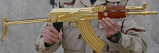Saddam Hussein's Golden AK-47