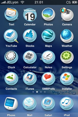 9890bcd5c84654a93f54e6246f41a599 Complete List of Winterboard Themes with Images for iPhone