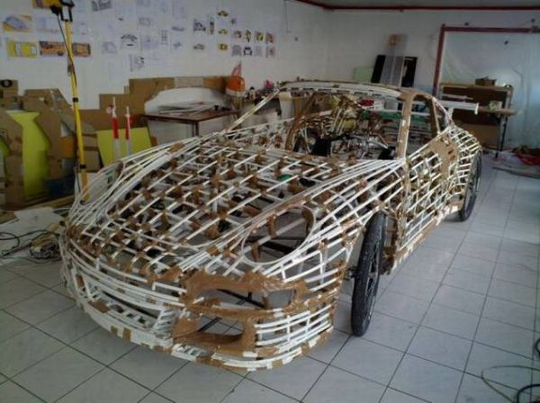 a8b7f9583e444019c192c818d4605f52 Guy Makes Porsche Car Out of Bicycle