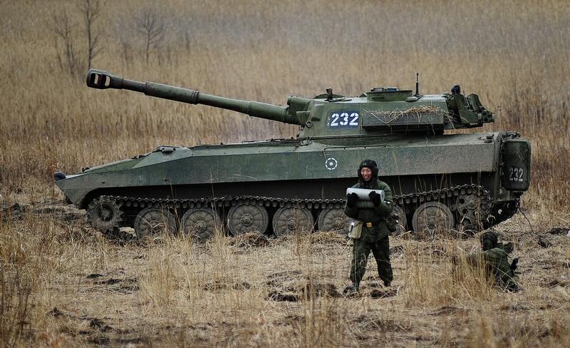 af60a3b6f9fb441e883fb6363a7f28af In Pictures The Russian Howitzer Practice Shoot