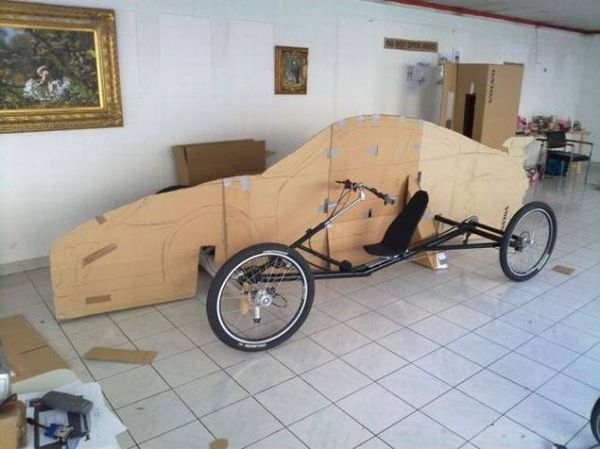 e5249afd8c8279ef59ac210f3ca57578 Guy Makes Porsche Car Out of Bicycle