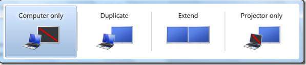 projection menu windows 7