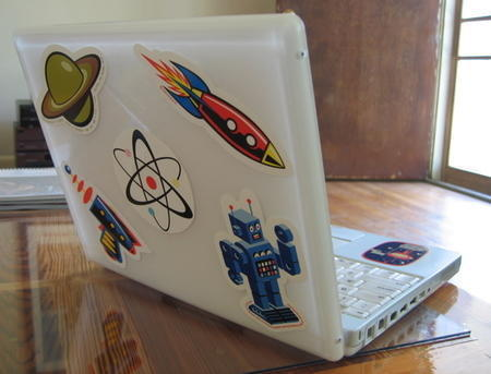 Stick in Laptop Sleeves, Skins and Stickers